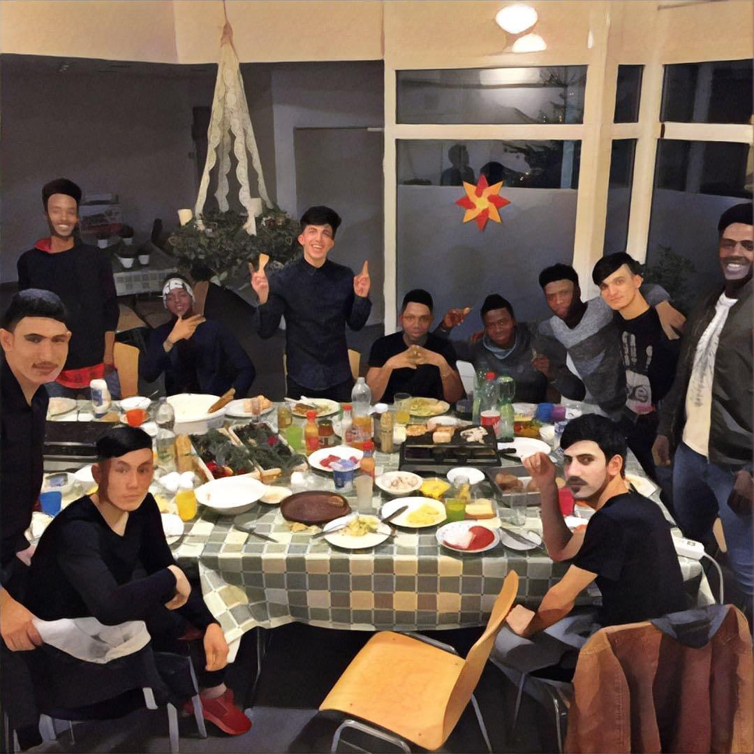 Mitarbeiterinnen und Mitarbeitern des Waldhauses auch an Heiligabend im Einsatz