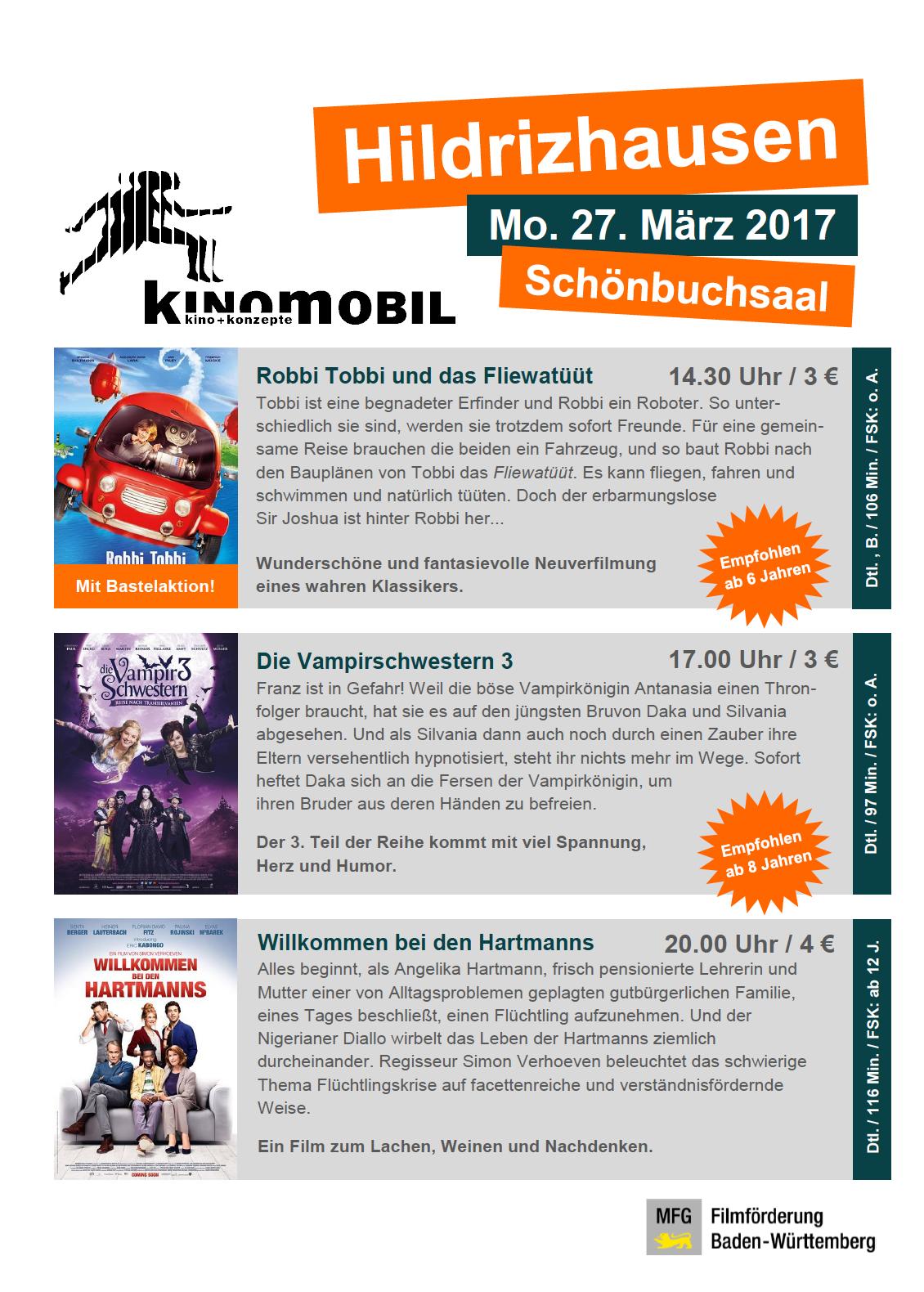 Kinomobil am 27.03.2017 im Schönbuchsaal Hildrizhausen