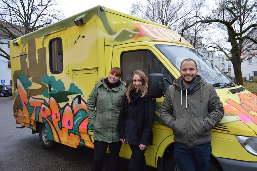 Der Bus der Mobilen Jugendarbeit in Leonberg bekommt einen neuen Look!