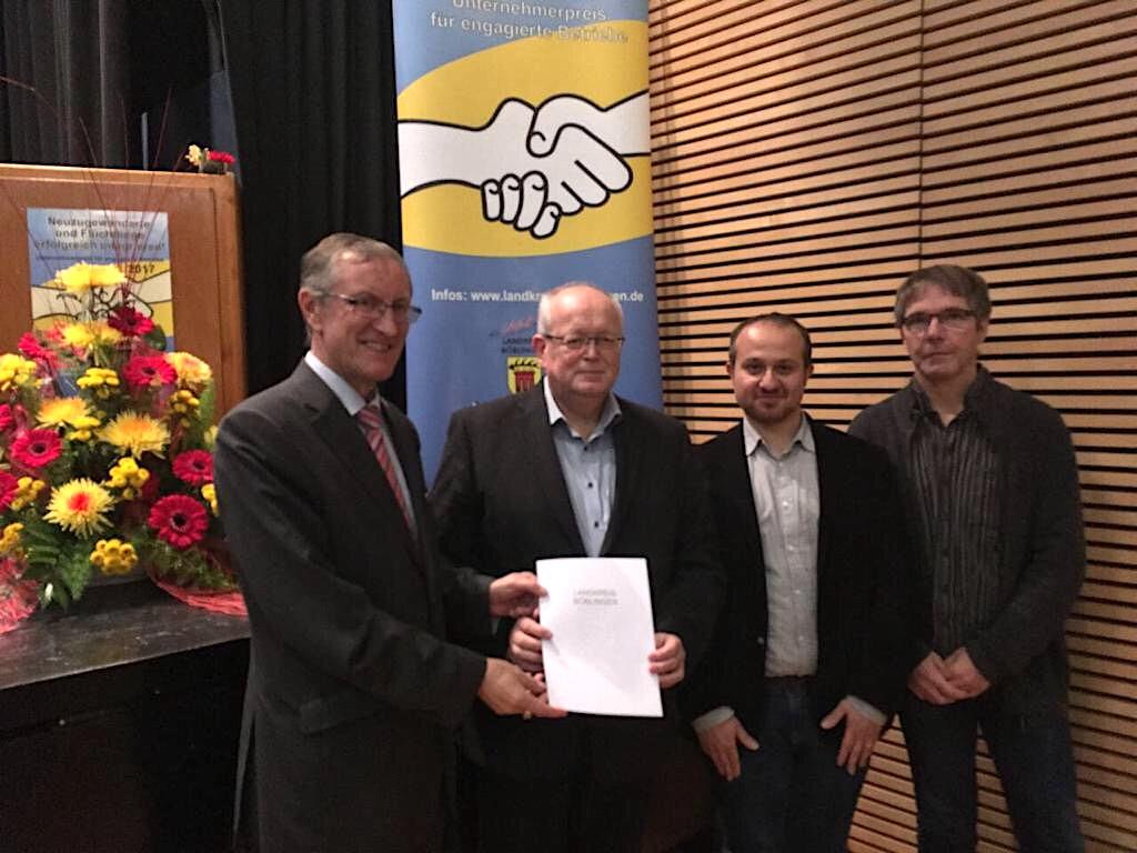 Unternehmerpreis 2017 des Landratsamtes Böblingen für das Waldhaus