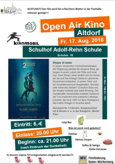 Open Air Kino in Altdorf
