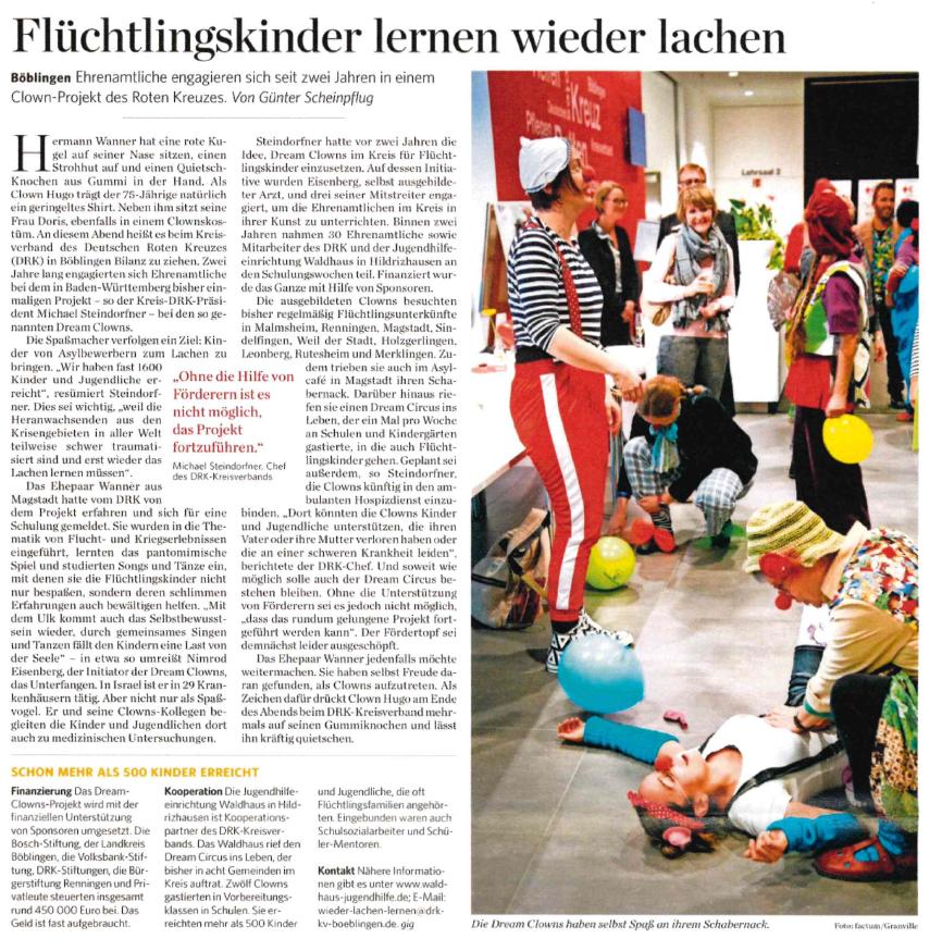 Flüchtlingskinder lernen wieder lachen