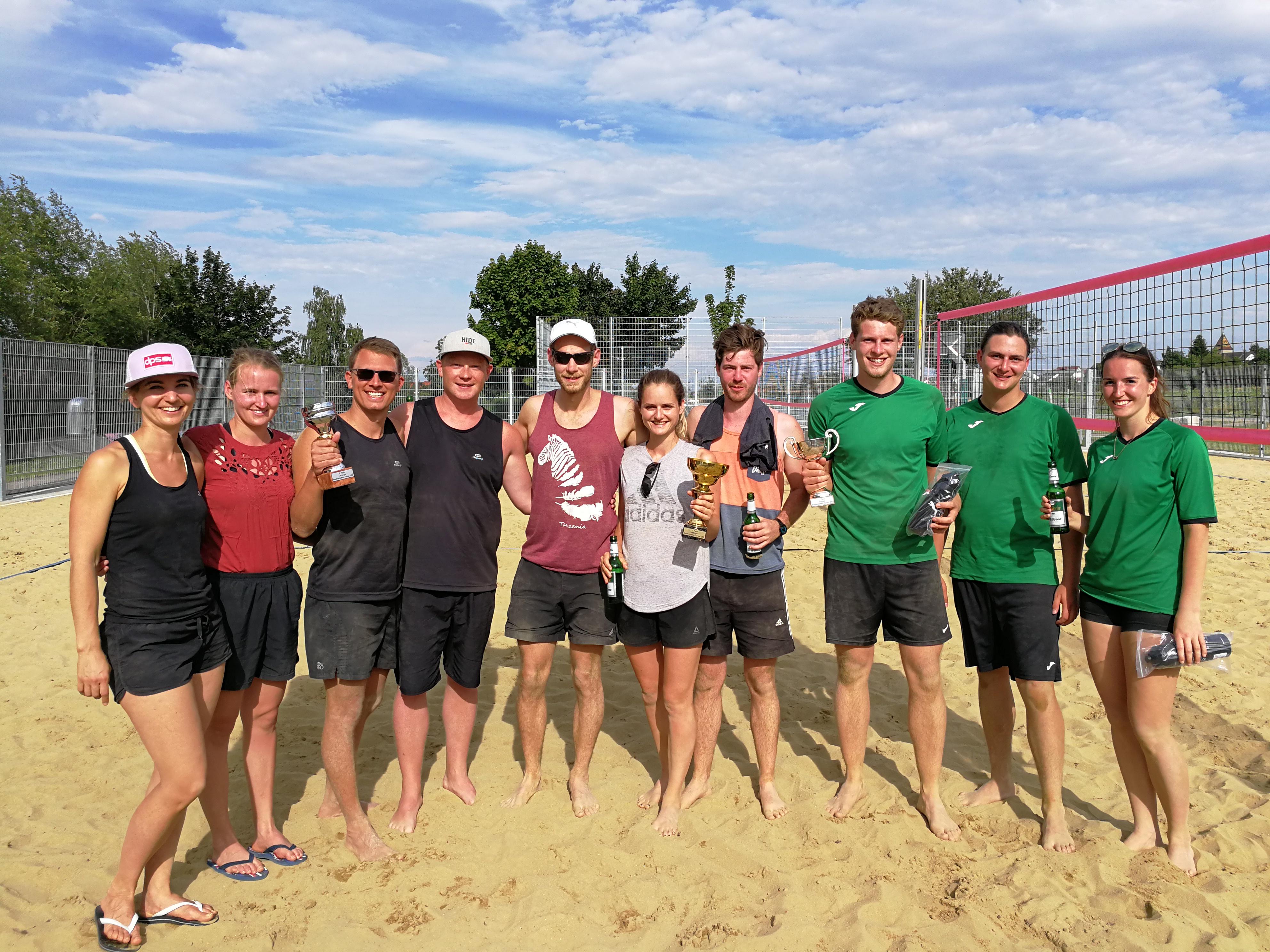 Beachvolleyball in Jettingen – Turnier auf neuer Freizeitanlage ein voller Erfolg