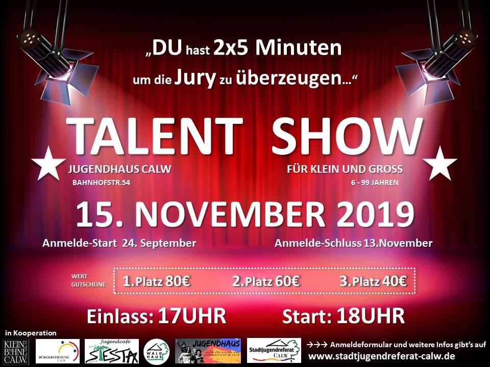 Talent Show 2019 im Jugendhaus Calw