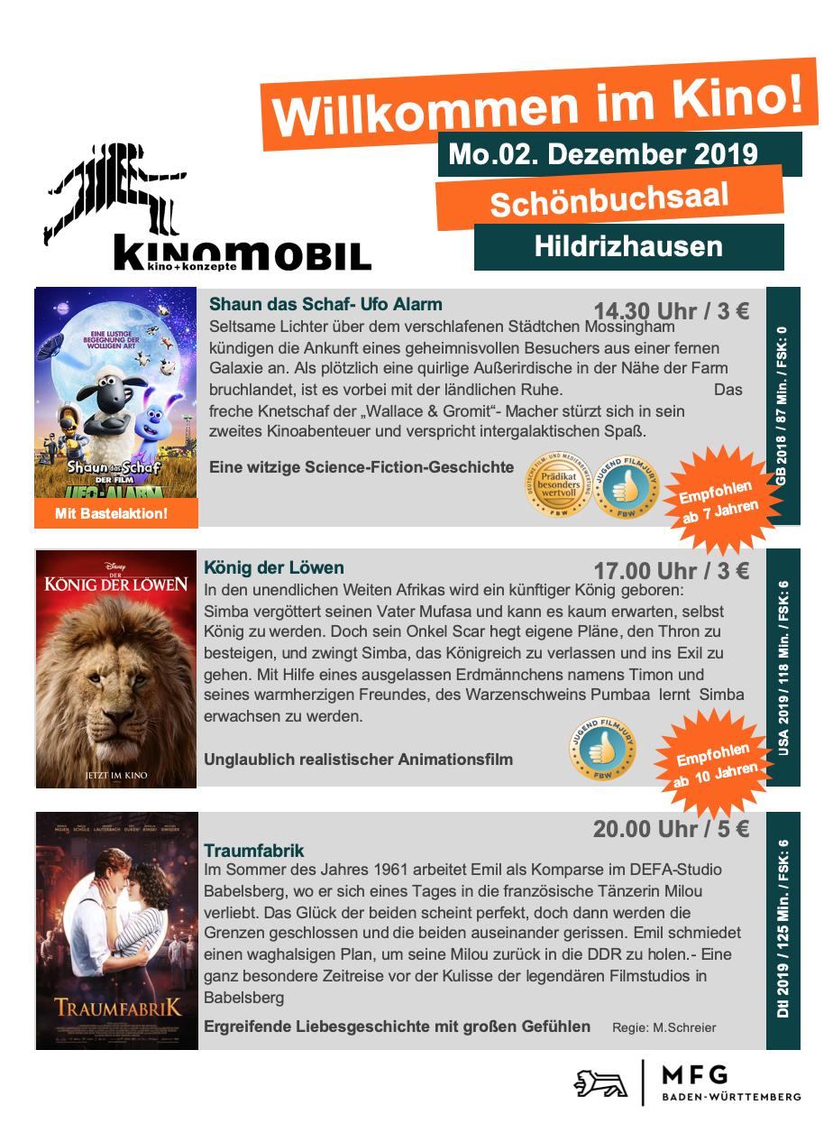 Kinomobil in Hildrizhausen